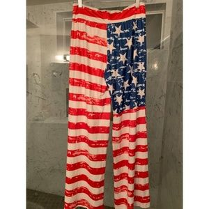 Pants - American Flag Pajama Pants